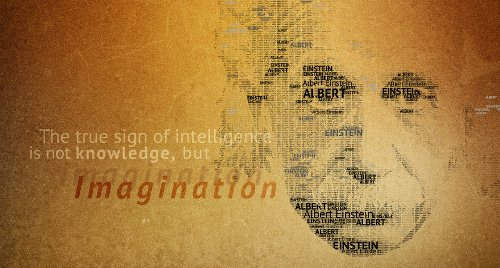 Typography Portrait Einstein