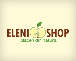 Eleni Bio Shop Logo Design
