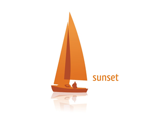 Sunset Boat Logo Design
