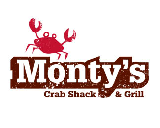 Monty's Crab Shack Logo Design