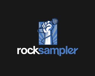 Rock Sampler Logo Design