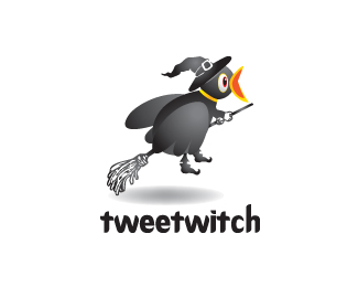 Tweet Witch Logo Design