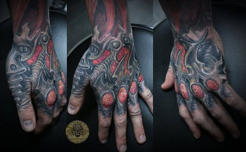 Horror Hand Tattoo