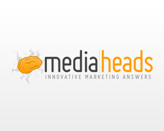 Media Heads Logo Design