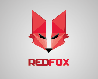 Red FOX Logo Design