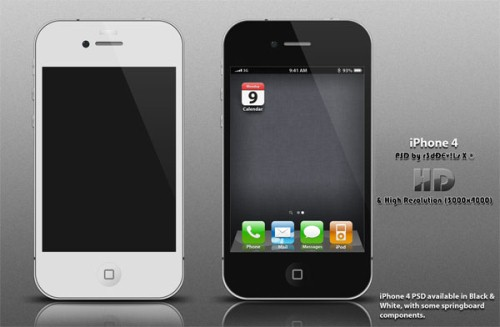 iPhone 4 PSD