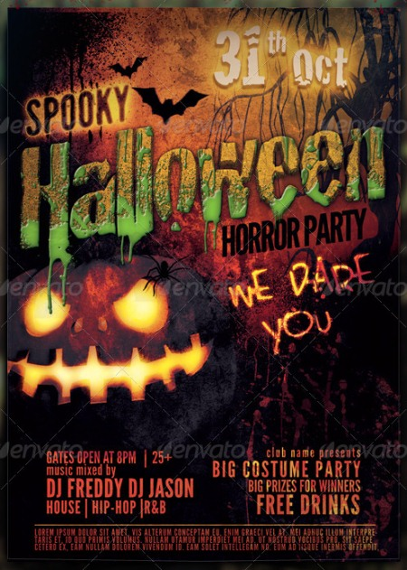 20 Halloween Flyer Templates for Halloween Party Events ...