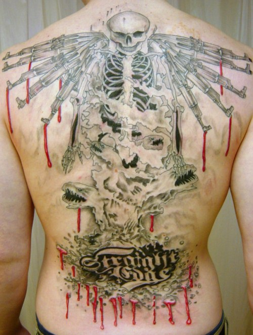 Back Piece Man Tattoo