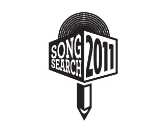 Song Search Microphone Logo Designs