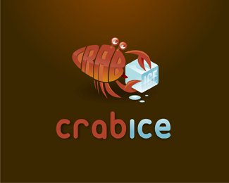 Crab Ice Logo Design