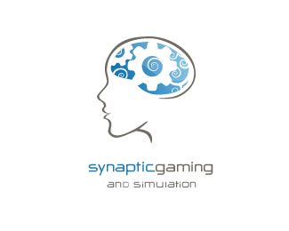 Synaptic Gaming and Simulation Logo Design