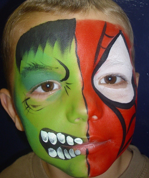 1000+ images about Super heroes faces on Pinterest - Best Halloween Face Painting Ideas