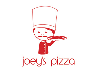 Joeys Pizza Logo Design