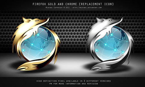 Firefox Gold Chrome Icon