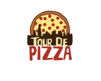 Tour De Pizza Logo Design