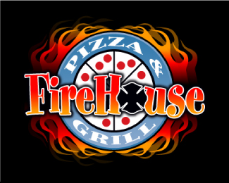 Fire House Pizza Logo Design