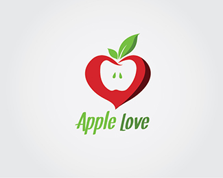 Apple Love Logo Design