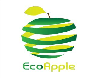 Eco-Apple Logo Designs