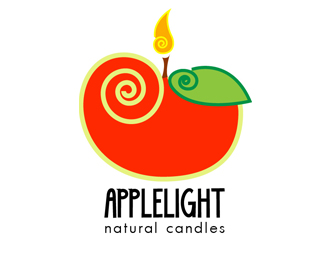 Apple Light Logo Design