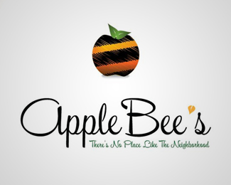 Apple Bees Logo Design
