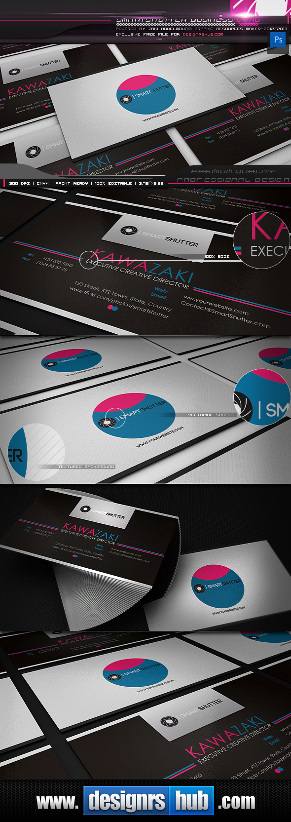 Smart Shutter - Free Photography Business Card Template