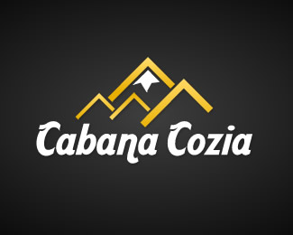 Cabana Cozia - Mountain Ledge Logo Design