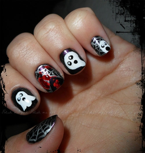 Creepy Halloween Nail Art Designs