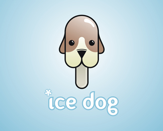 Ice Dog Logo Design