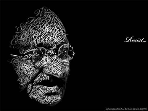 Mahatma Gandhi in Type
