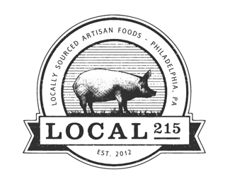 Local 215 Emblem Logo Design
