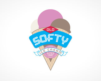 Old Softy Logo Design
