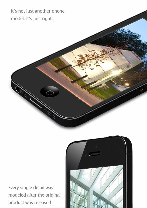 iPhone 5 Realistic Model