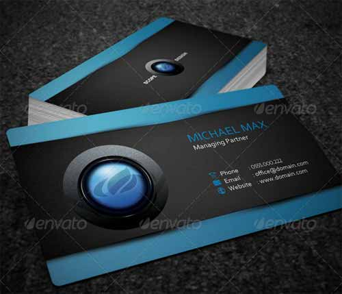 Realistic Business Card Mockup Template Design - Ups business card template