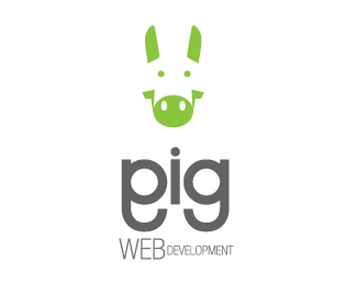 Pig Web Developer Logo Design