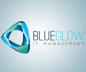 Blue Glow Logo Design