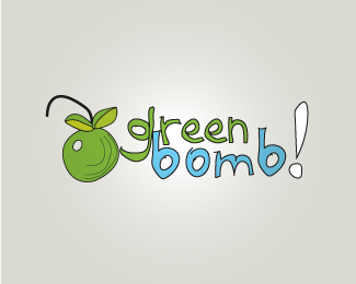 Green Bomb Logo Designs