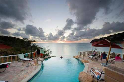 Infinity Pool Sunset Panorama