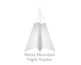 Rocky Mountain Flight Tracker Logo Design