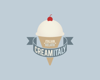 Cream Italy Logo Design