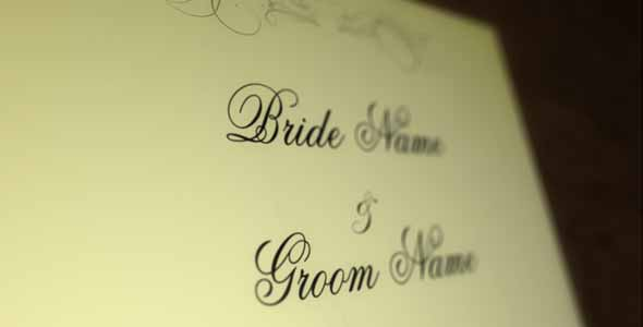 Wedding Invitation After Effects Template