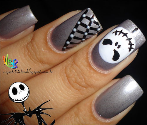 Nail Art Jack Skellington