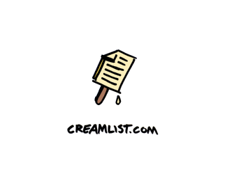 Cream List Logo Design