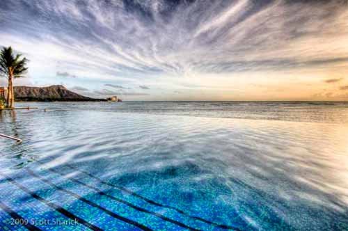 Infinity Pools - Sheraton Waikiki, Hawaii