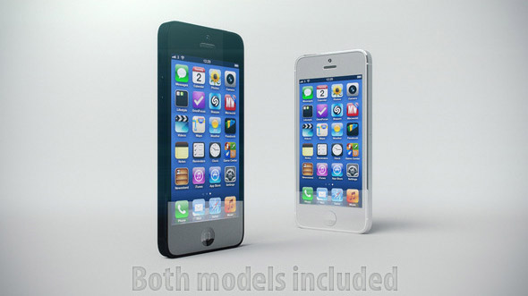 Realistic iPhone 5 3D Models