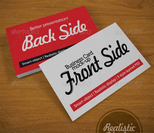 Business Card Mock-Up Templates