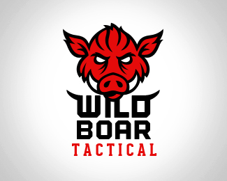 Wild Boar Tactical Logo Design