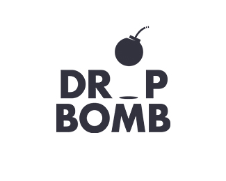 Drop Bomb Logo Design