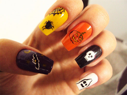 Nail Art Do Halloween