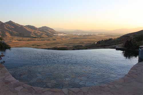 Infinity Pool at Dusk - Southern California