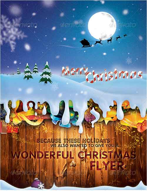 Wonderful Christmas Flyer & Postcard